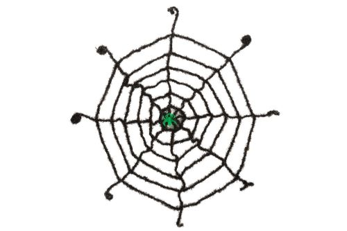 Halloween Spider Web Black with Glow Spider Trick Or Treat Party Decoration